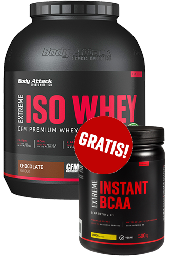 Body Attack Extreme ISO WHEY - 1,8kg + Extreme Instant BCAA 500g