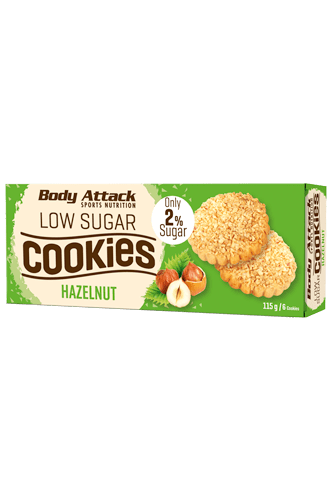 Body Attack Low Sugar Cookies - 115g Remaining Stock
