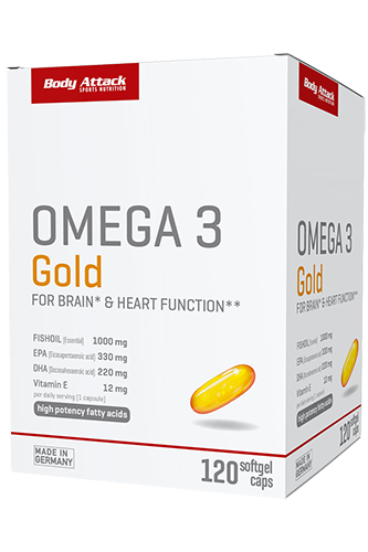 Body Attack Omega 3 Gold - 120 Softgel Caps
