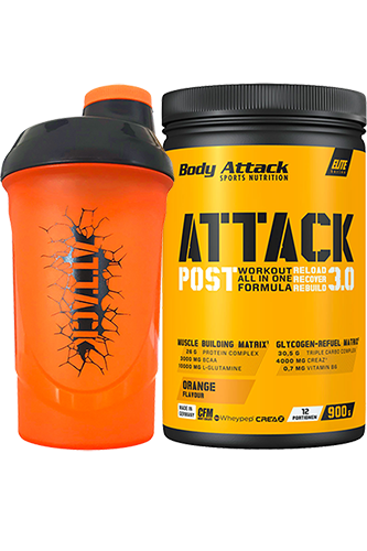 Body Attack Post Attack 3.0 - 900g + gratis Shaker ATTACK 600ml