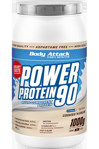 Body Attack Power Protein 90 - 1kg Restposten Birthday Cake