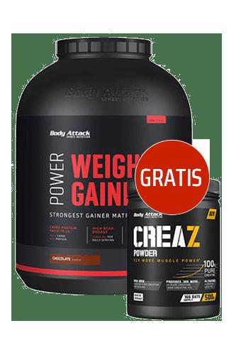 Body Attack Power Weight Gainer - 4750g + CREAZ Powder 500g