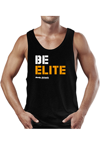 Body Attack Sports Nutrition Stringer Tank Top BE ELITE