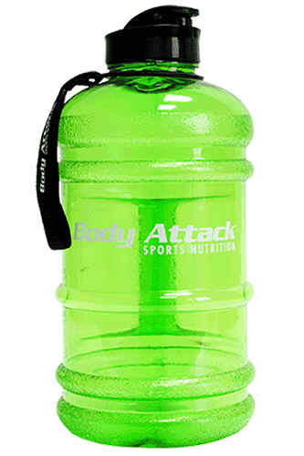 Body Attack Sports Nutrition Water Bottle XXL - 2,2 Liter bright green