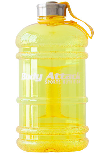 Body Attack Sports Nutrition Water Bottle XXL yellow - 2,2 Liter Restposten