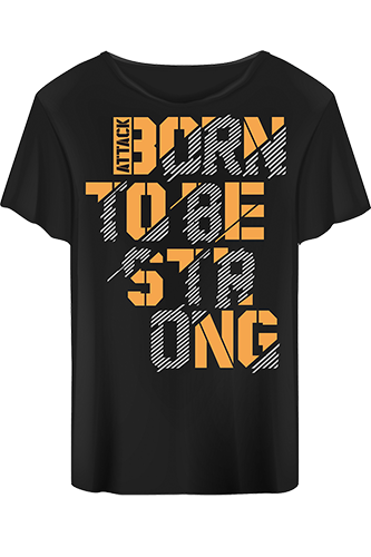 Body Attack T-Shirt Born to be Strong