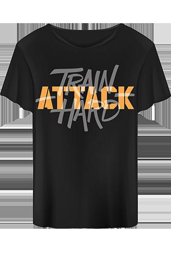Body Attack T-Shirt Train Hard