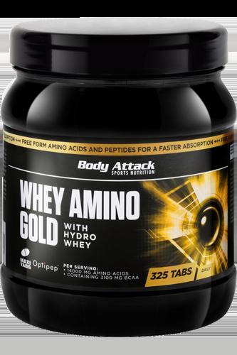 Body Attack Whey Amino Gold - 325 Tabs Restposten