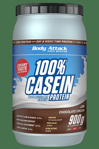 Body Attack 100% Casein Protein Natural - 900g Restposten