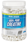 Body Attack 100% Pure Creatine - 600 Caps