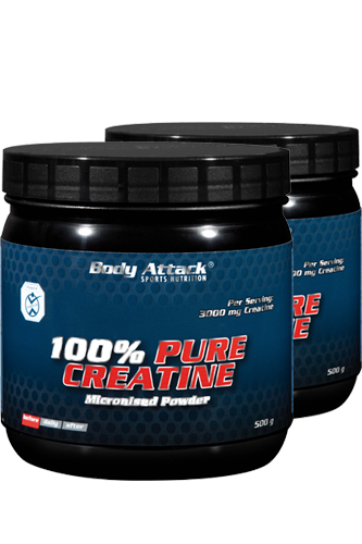 Body Attack 100% Pure Creatine - 2x 500g