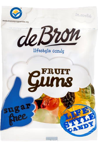 de Bron Low Sugar Fruit Gums 100g