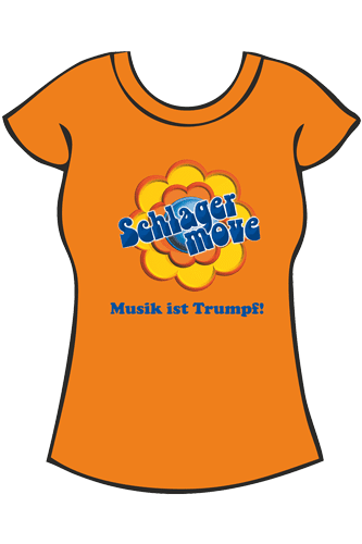 Elbmeister Schlagermove-Shirt - Girlie orange