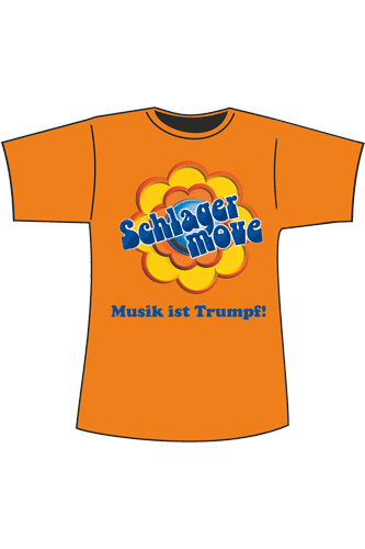 Elbmeister Schlagermove-Shirt - orange