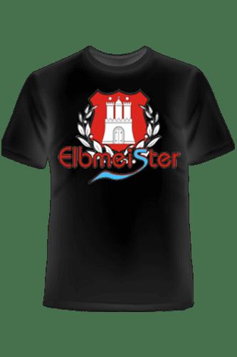 Elbmeister T-Shirt - Lorbeerkranz schwarz