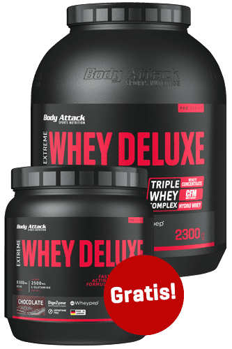 Body Attack Extreme Whey Deluxe 2,3kg + 500g gratis