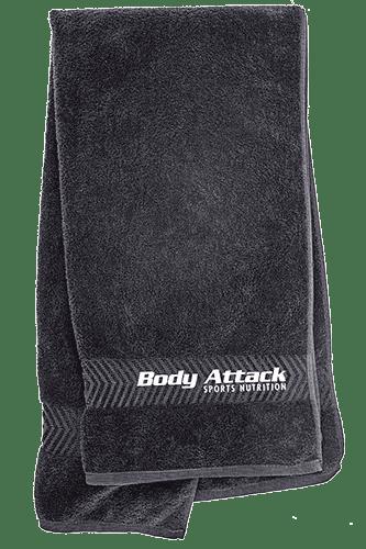 Body Attack Handtuch mit Logo schwarz