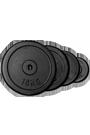 Hantelscheibe Guss Schwarz  0,5 kg 30mm