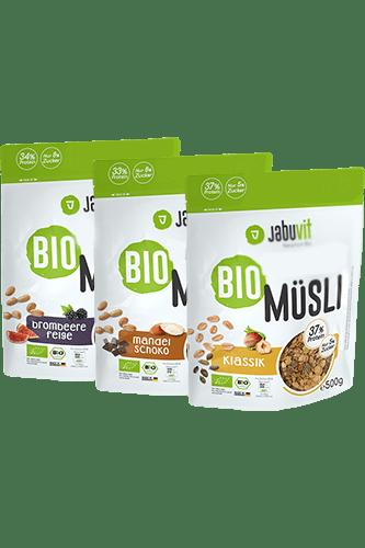 JabuVit Bio Low Sugar Müsli Brombeere-Feige - 500g Restposten