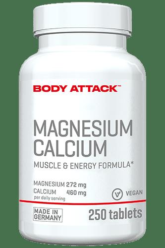 Body Attack Magnesium und Calcium - 250 Tabs