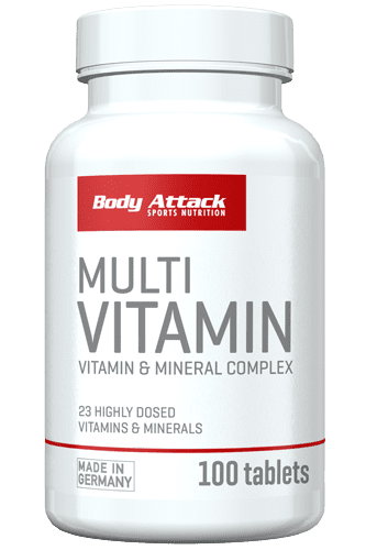 Body Attack Multi Vitamin - 100 Tabs
