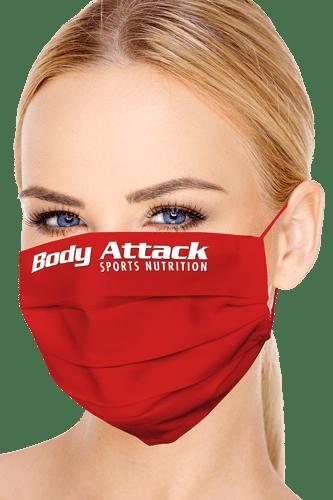 Mund-Nasen-Maske mit Body Attack Logo rot