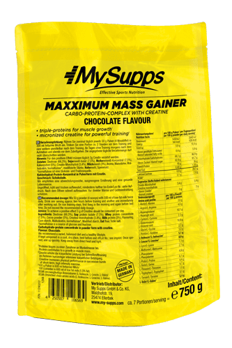 My Supps Maxximum Mass Gainer Vanilla - 750g Restposten