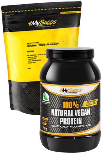 My Supps 100% Natural Vegan Protein - 750g + 100% Rice Protein