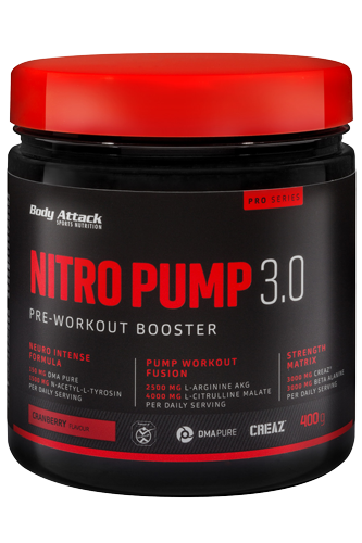 Body Attack Nitro Pump 3.0 (Koffeinfrei) - 400g Peach Passion Fruit Restposten