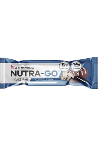 Nutramino Nutra-Go Protein Cake Bar Cookies and Cream - 38g Restposten