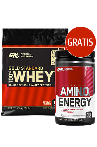 Optimum Nutrition 100% Whey Gold Standard - 3,16kg + Amino Energy Fruit Fusion 270g