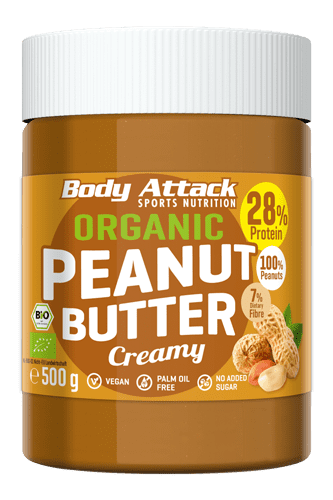 Body Attack Organic Peanut Butter - 500g
