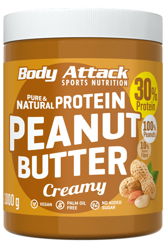 Body Attack Peanut Butter - 1000g Restposten