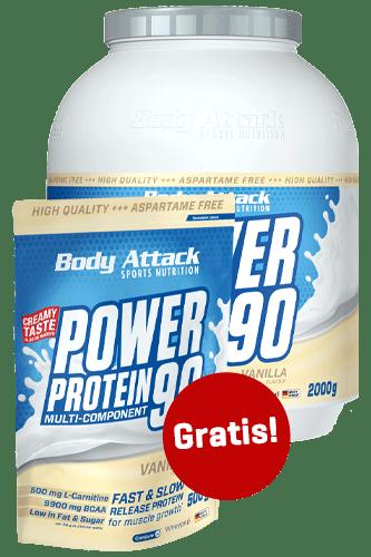Body Attack Power Protein 90 2kg + 500g gratis