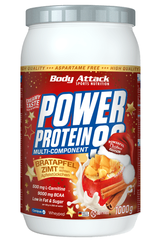 Body Attack Power Protein 90 Limited X-Mas Edition Bratapfel Zimt - 1000g