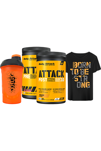Body Attack Pre & Post Attack Paket - plus gratis T-Shirt und gratis Shaker