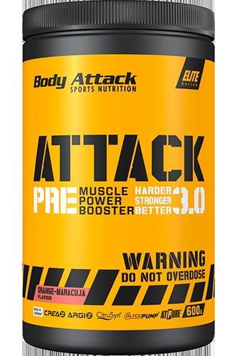 Body Attack PRE ATTACK 3.0 - 600g Cassis Flavour Restposten