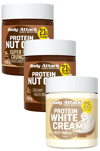 Body Attack Protein Nut Choc - 3er Pack