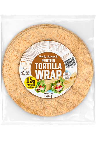Body Attack Protein Tortilla Wraps - 280g Restposten