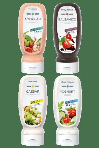 Body Attack Salatdressing Quartett