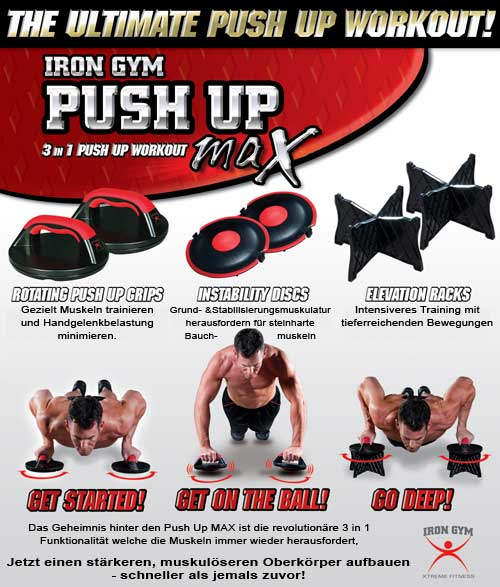 Iron Gym Push Up-Max� Liegest�tzgriff-Set Infos