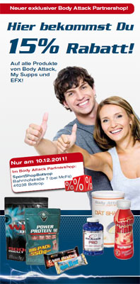 Exklusiver Body Attack Partnershop Bottrop