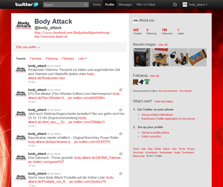 Body Attack bei Twitter