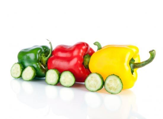 Paprika auf Rädern
