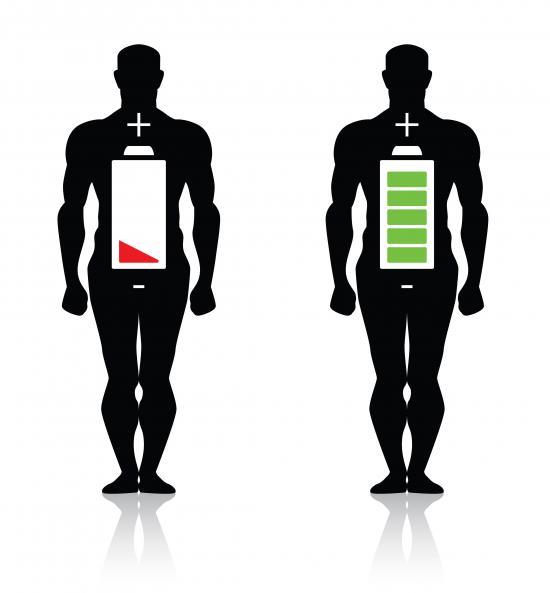 Energieanzeige im Körper (Quelle: Shutterstock/donskarpo)